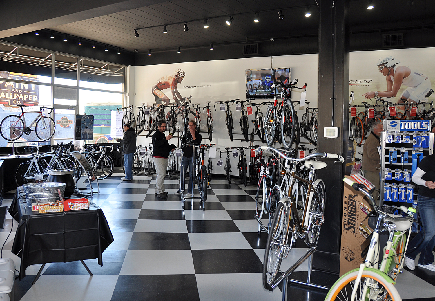 Bike Store Spokes showroom very pretty