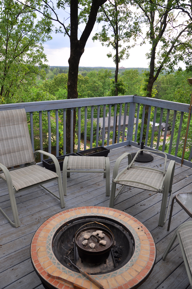 Another use for the fire pit on the deck!
