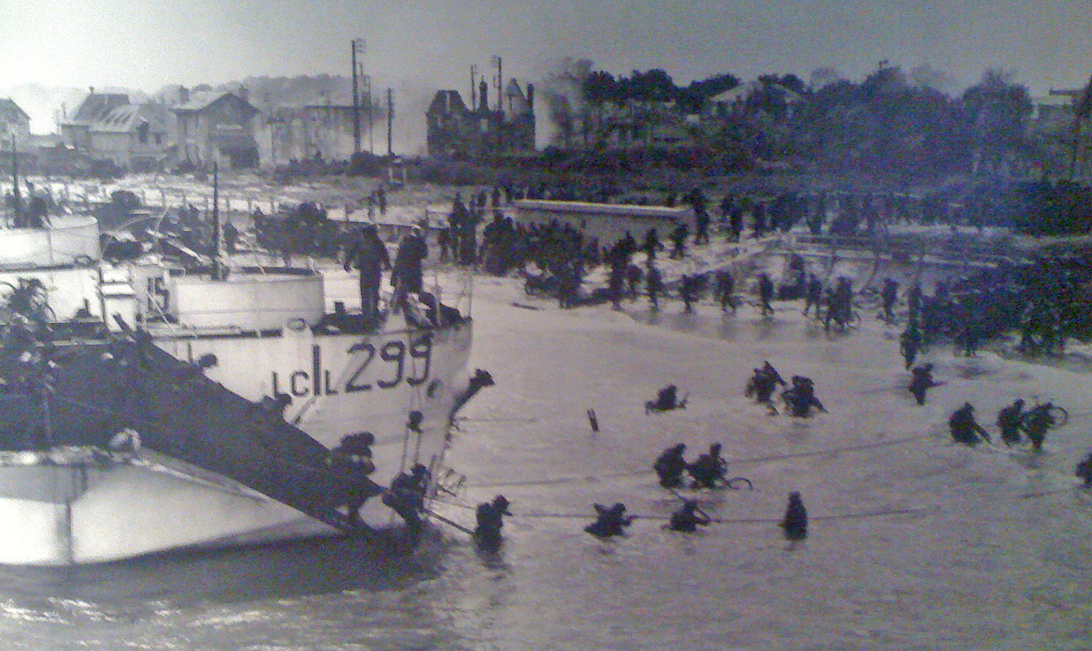 The bicycles go ashore in France.