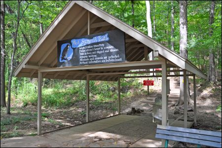 The trailhead for the West Summit Trail at Pinnacle Mountain State Park will be temporarily moved west of the current trailhead (pictured)