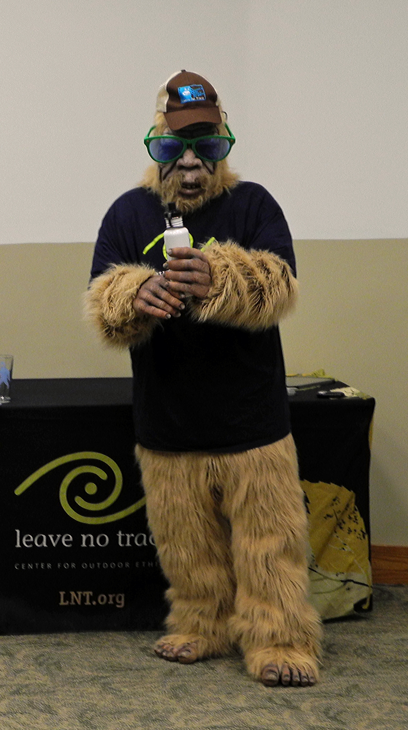 Bigfoot made a appearance to hand out goodies to those in attendance.