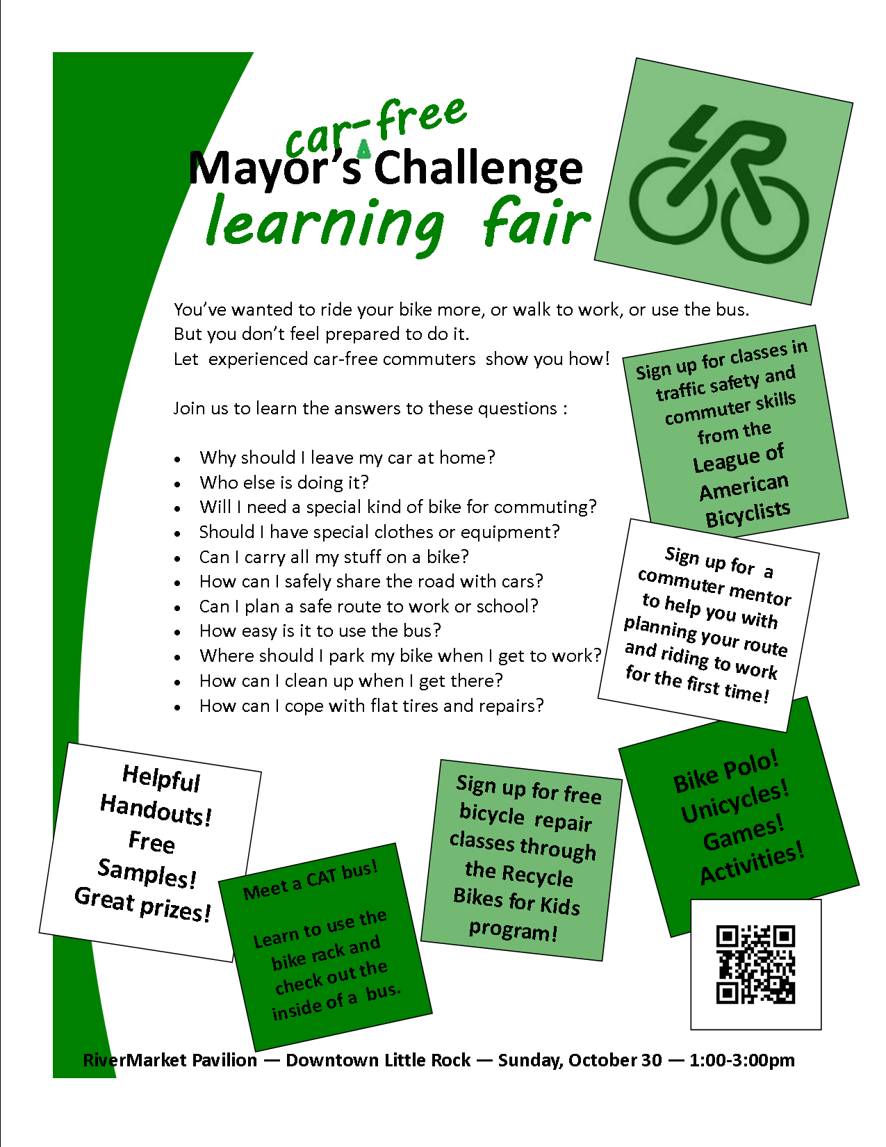 Mayor's Car-Free Challenge Learning Fair