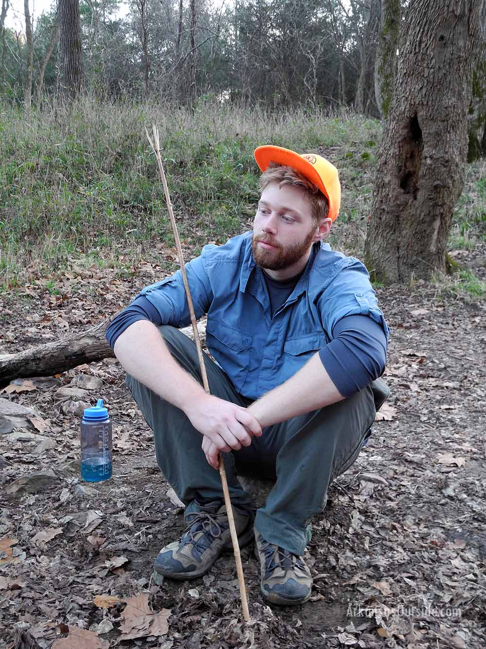 David fashioned a fishing spear a'la Survivorman. You'll see his success in a later photo.