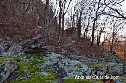 """More """"paving"""" and large rocks along the Summit Park Trail."""