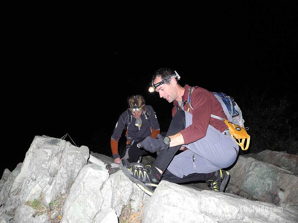 Night navigation, 2011 Raid the Rock.