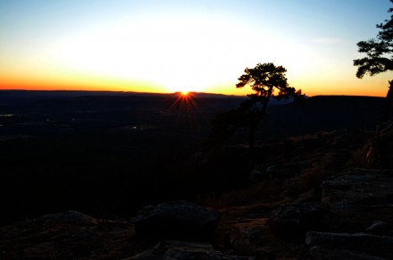 Sunsets and sunrises are beautiful at Mount Nebo State Park.