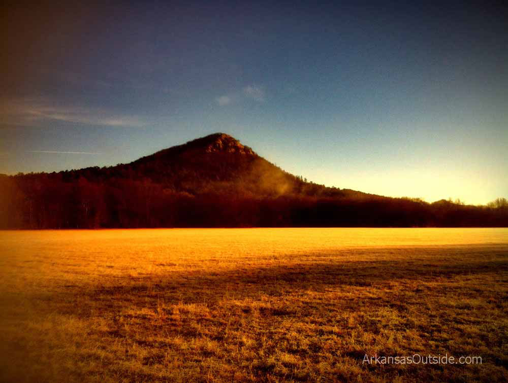 Pinnacle Mountain from Highway 300.