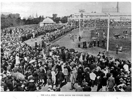 """Crowd Round The Cycling Track"""