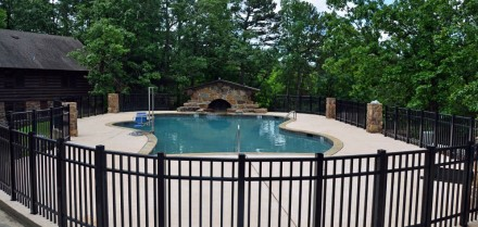 The new pool includes a waterfall feature and new bathrooms for bathers and hikers.