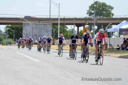 Just back from RAAM, that's Kurt Searvogel pulling the Masters men 44+ pack around. (click the image for that story)