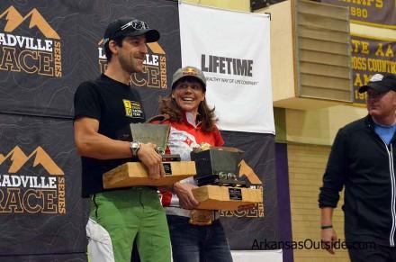 Alban Lakata and Rebecca Rusch 2012 Leadville 100 winners.