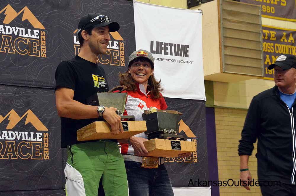 Alban Lakata and Rebecca Rusch 2012 Leadville 100 winners.