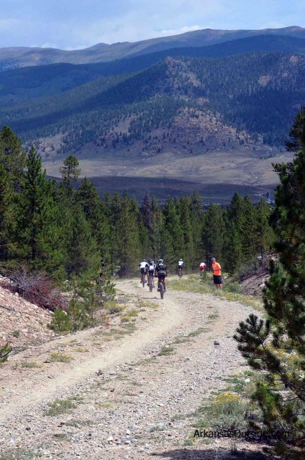 Heading down Columbine to Twin Lakes Aid Station.