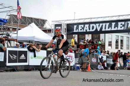 Stephen Durham rolls into the finish.