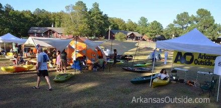 We got to set up right next to the Ouachita Outdoor Outfitters Tent. (Location, Location, Location)