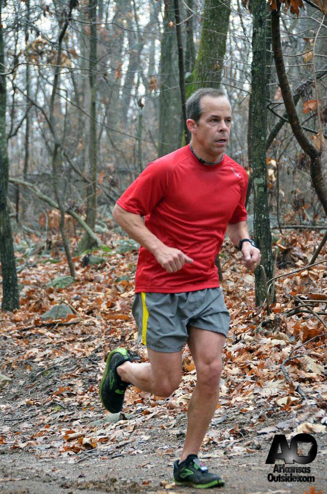 Race Director, Micheal Witt, gets his run in.