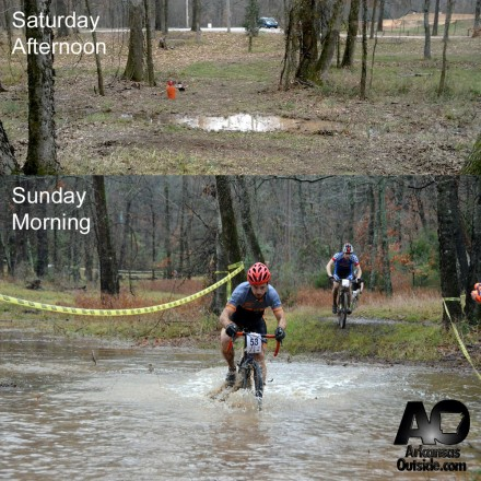 Flash Flood - (opposite angles of the same puddle) Top photo from ArkansasCyclocross