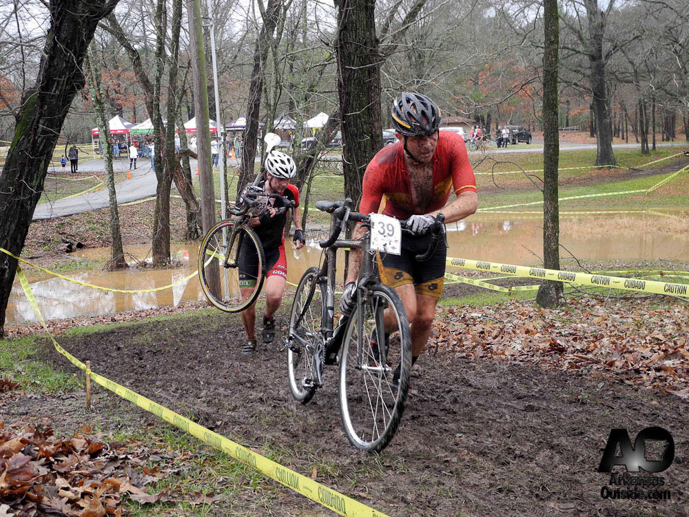 Steve Erickson of Team Community Bicyclist and Keegen Knapp of Team CARVE pushed each other throughout the race.