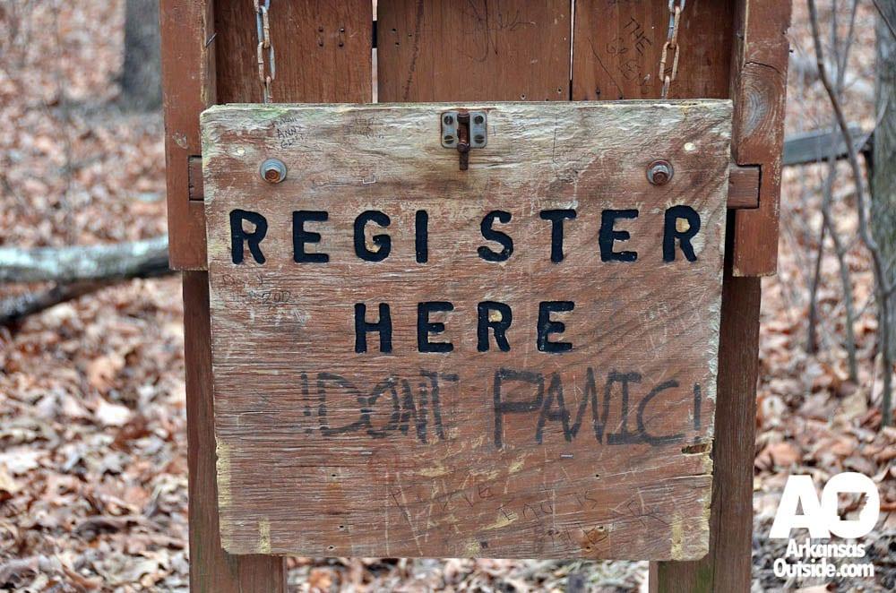 Register Here, Don't Panic