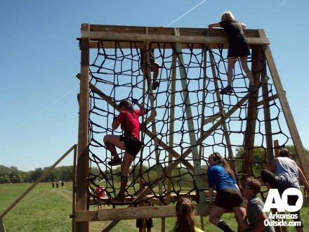 An obstacle from the 2012 Conquer the Gauntlet.
