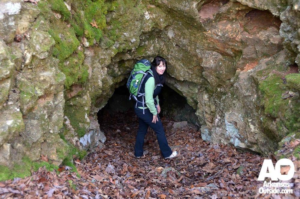 Detour Destinations Indian Rockhouse Cave Arkansas Outside