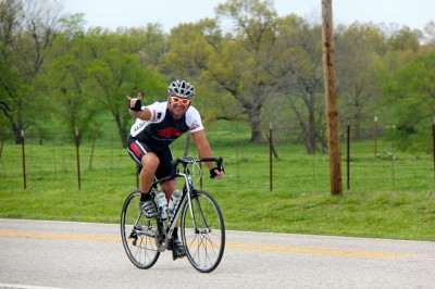Tour rider enjoying the ride. (photo by Mandy McCorkindale)