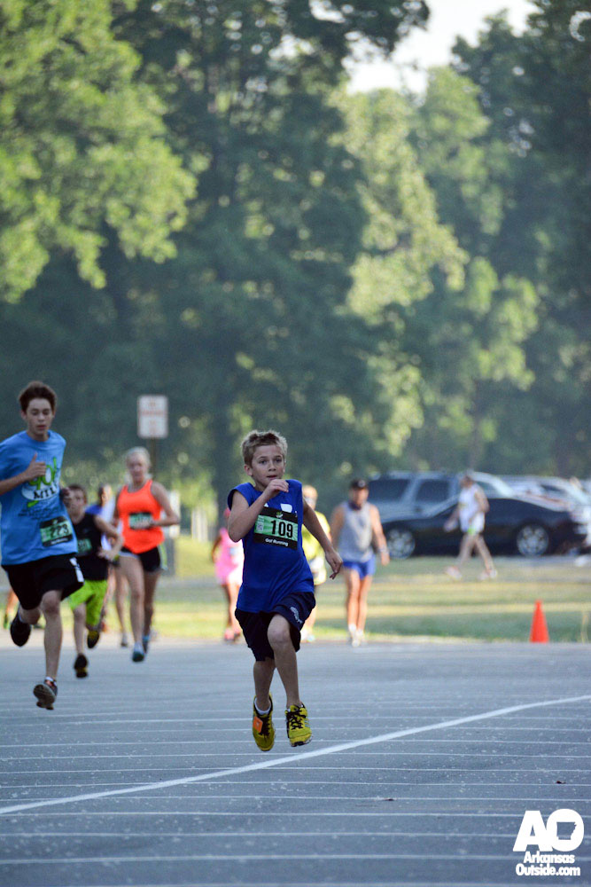 Finishing hard on that first mile.