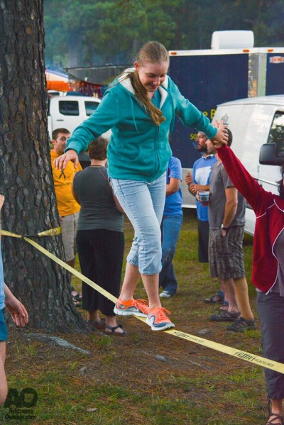 Some slacklining fun.