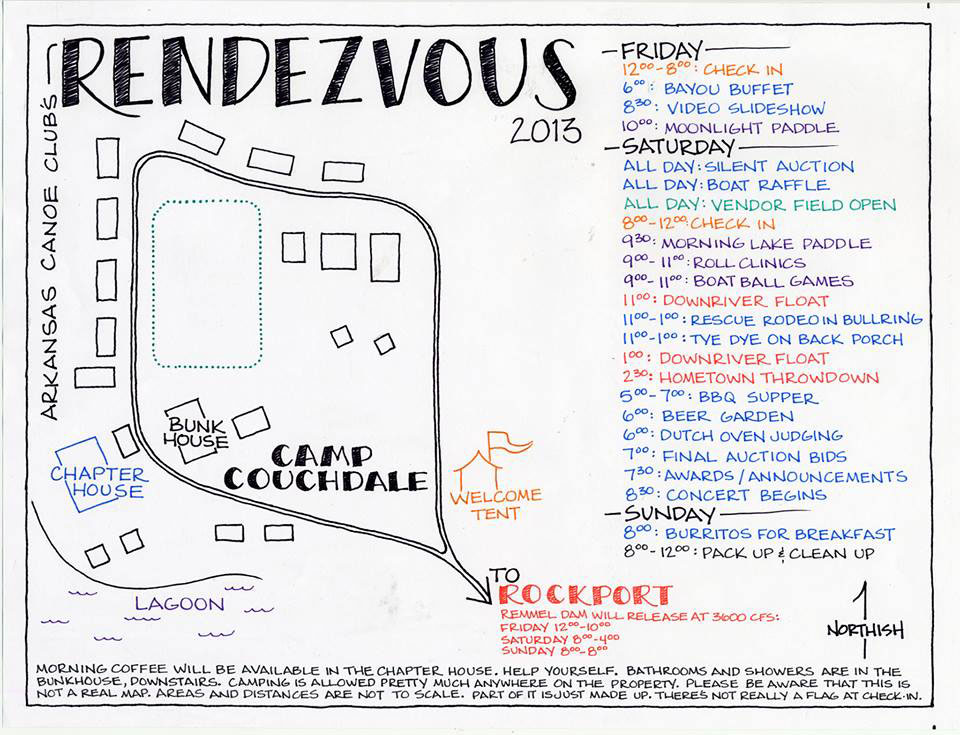 Aly Signorelli made an excellent map of the grounds.