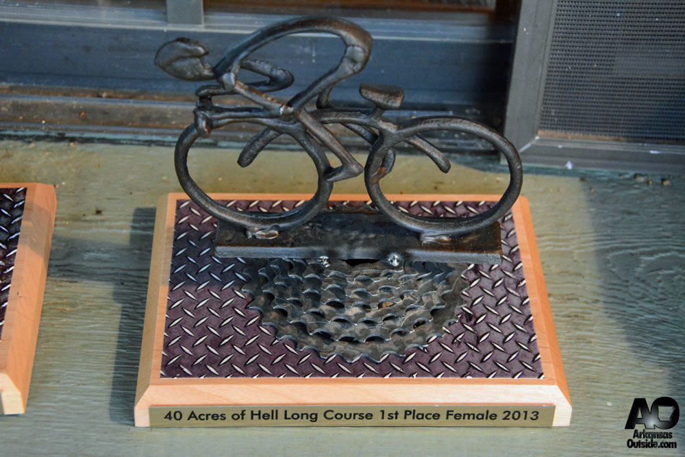 40 Acres of Hell winner's trophy