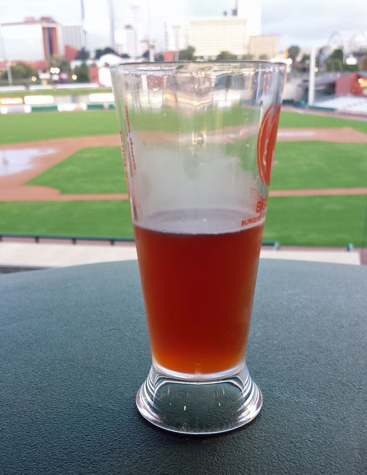 My first taste, it's October, I'm at a ballpark, sounds perfect.