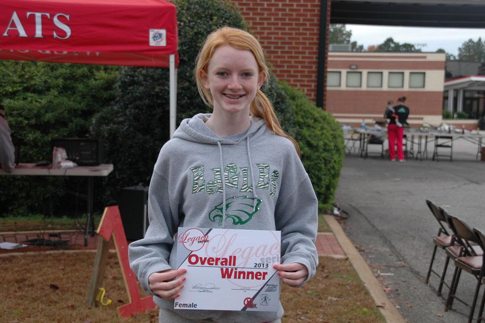 Alyssa Dohm, Women's Legacy Cup Winner.