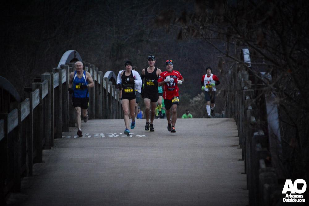 Before getting to the Big Dam Bridge runners first crossed the Jimmison Creek Bridge.