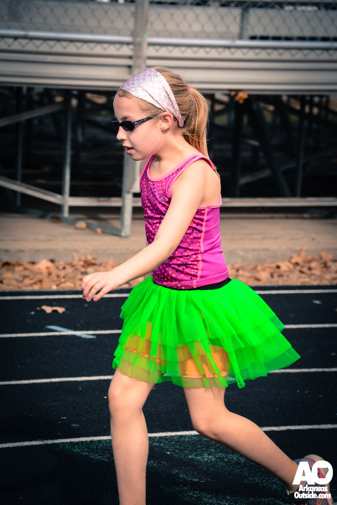 Even several kids took part in the run, complete with tutu.