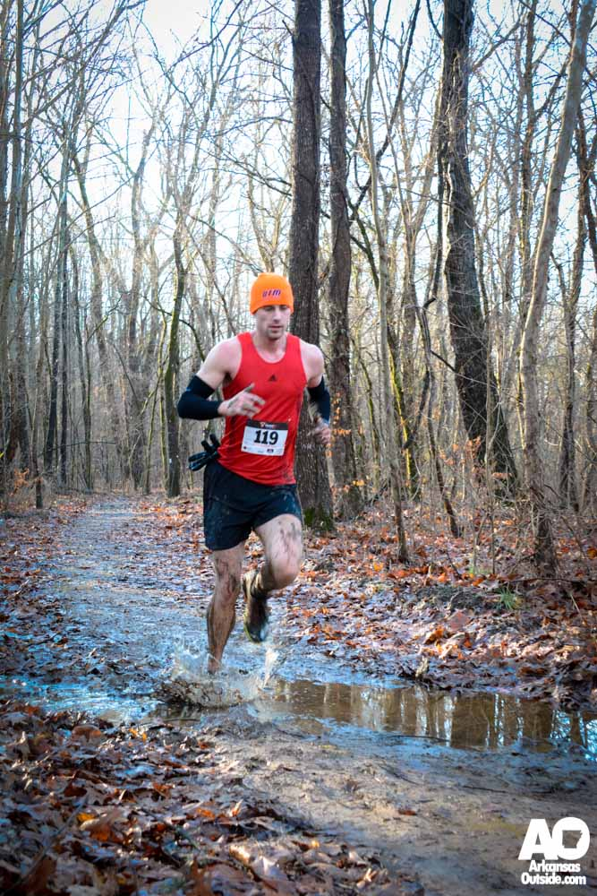10K winner, Cody Lemmons, stopped worrying about the puddles long ago.
