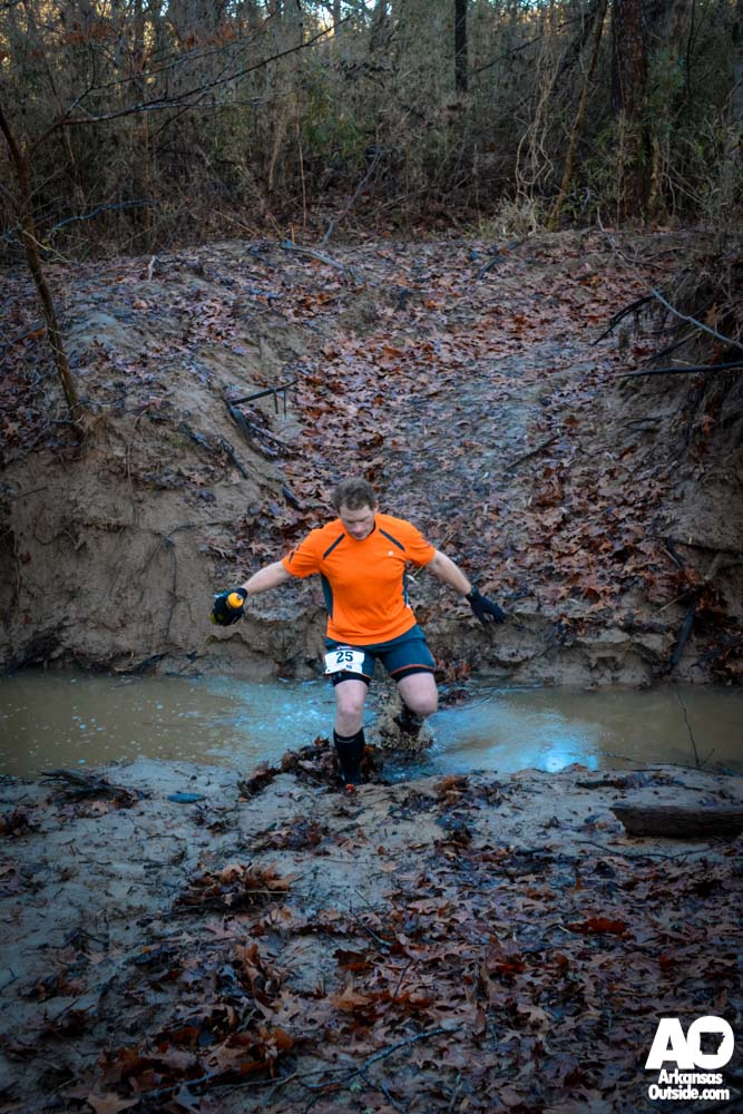 First runner to take on the creek.