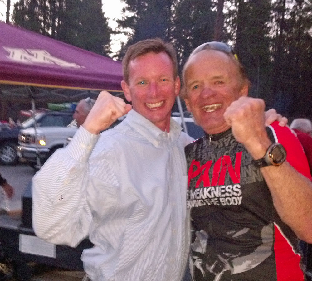 James and Leadville Legend Ken Chlouber