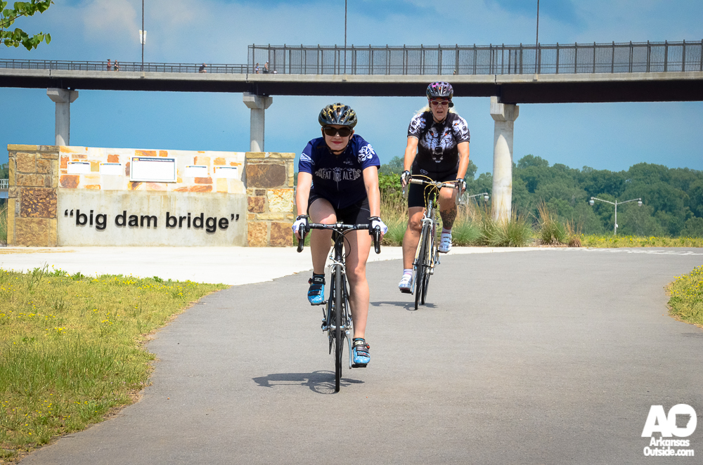 These two came all the way from Fort Smith to ride in the Central Arkansas Cyclofemme event.