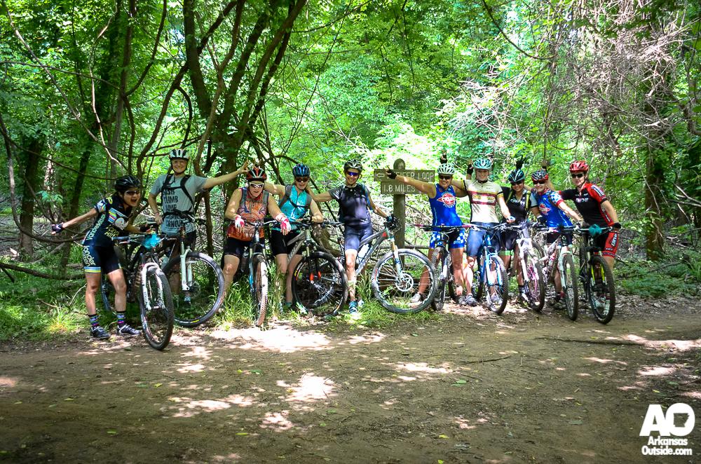 The mountain bike group on Pfeifer Loop.