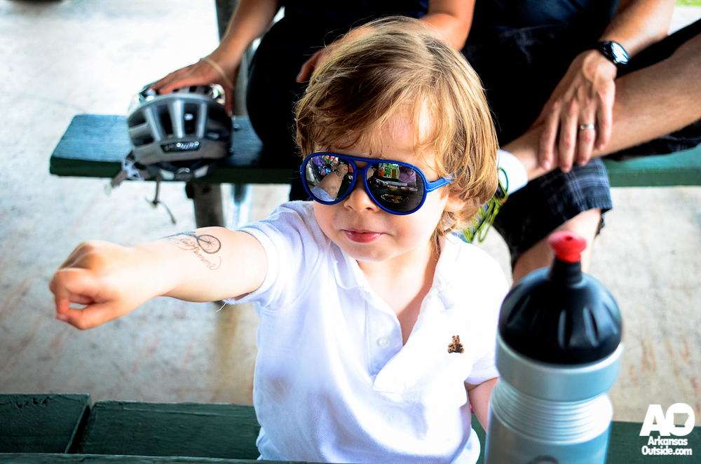 Our youngest manbassador showing off his tattoo.