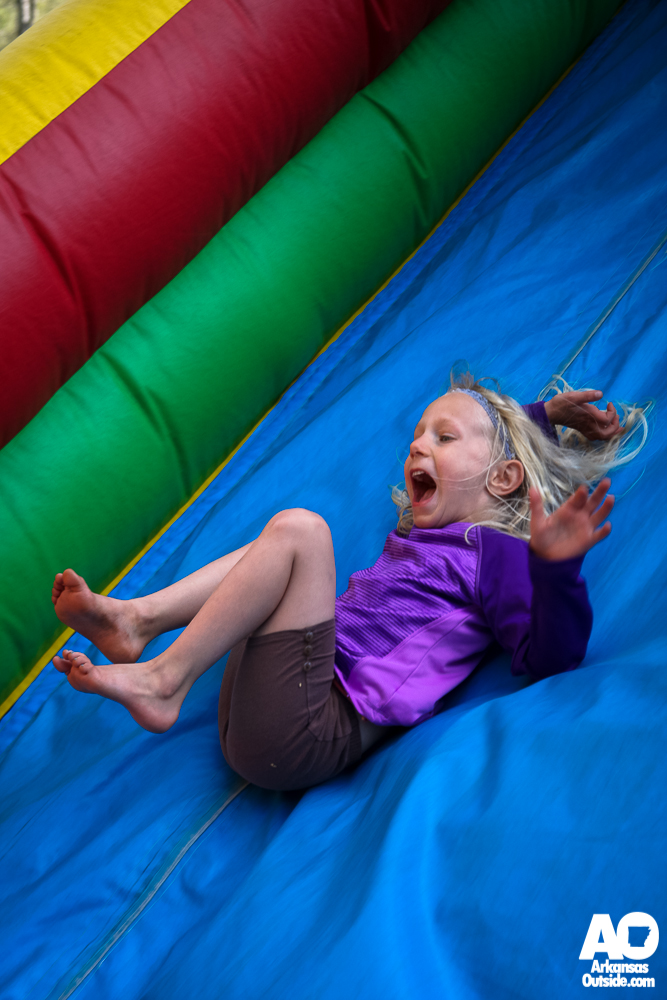 Fun in the inflatables. (photo by Cliff Li)