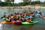 Tribute float for Jon Kennedy at Fishers Ford Whitewater Park, Siloam Springs.