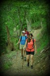 Hikers on the Lake Ouachita Vista Trail (photo courtesy of Arkansas Department of Parks and Tourism)