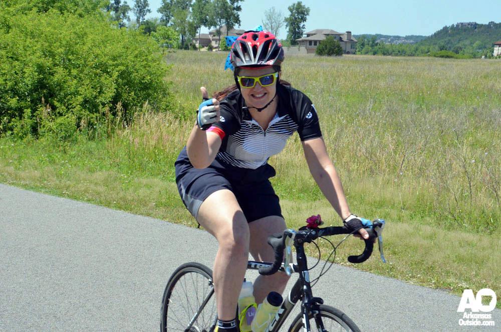 Riding in Central Arkansas Cyclofemme 2013.