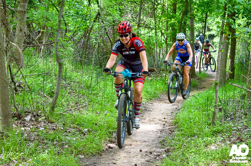 Leading the mountain bike group at 2014 Cyclofemme.