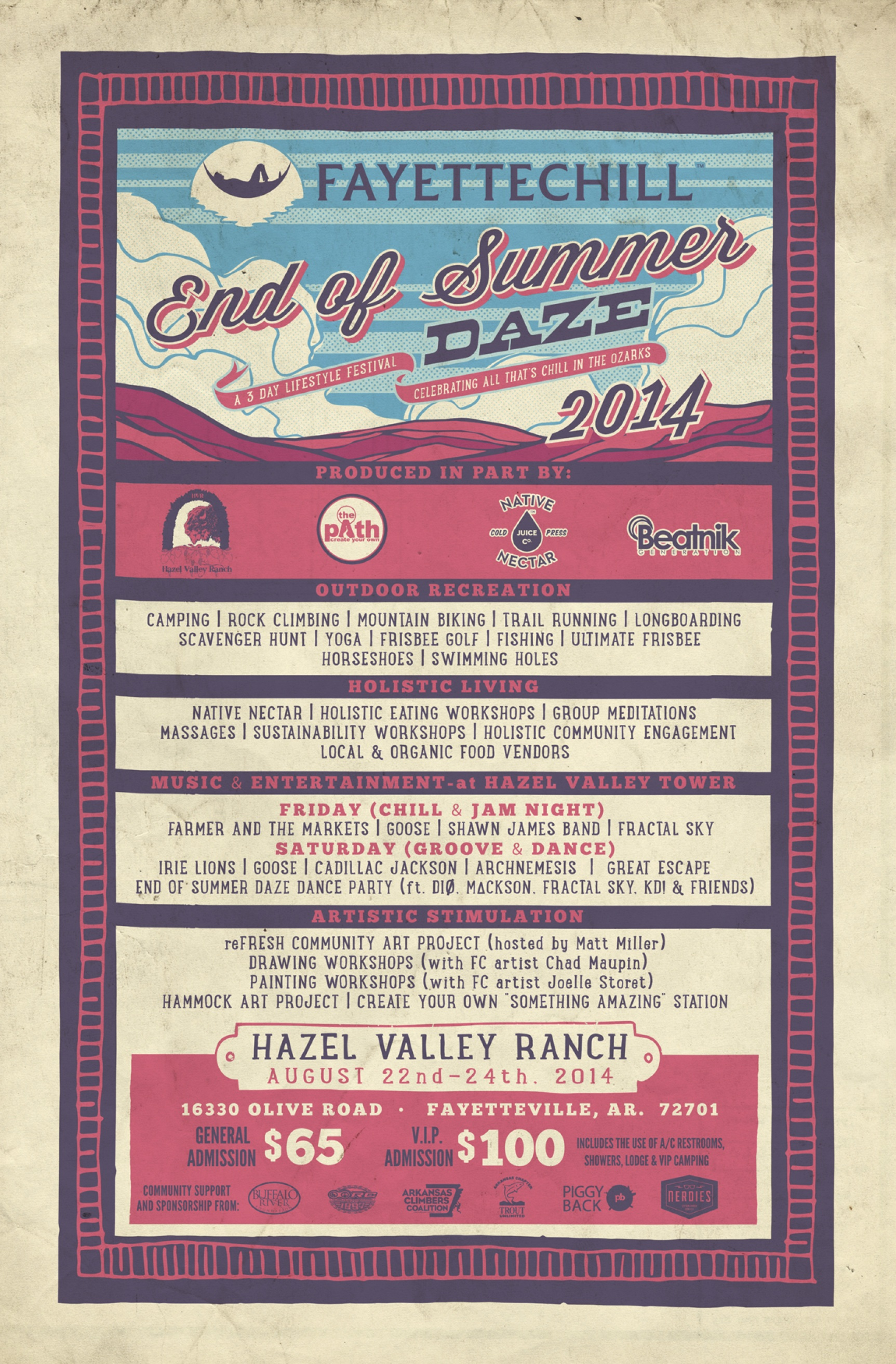 End of Summer Daze lifestyle festival