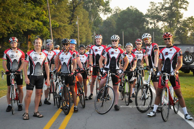 A group from the RevRock riding club before the start.