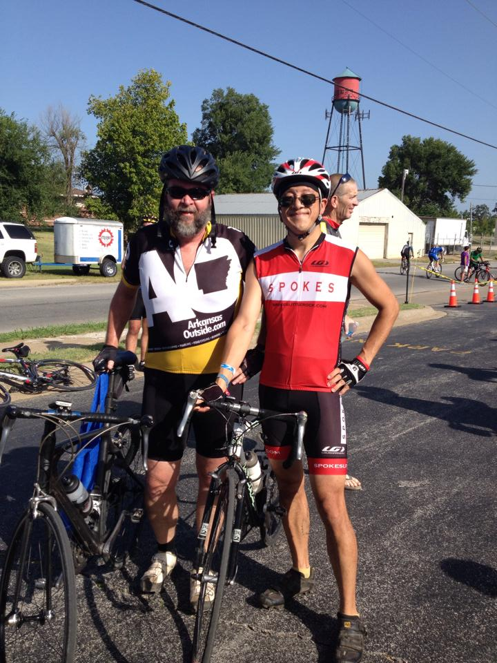Cliff and I at the finish. (Photo totally ripped off Cliff's Facebook page)