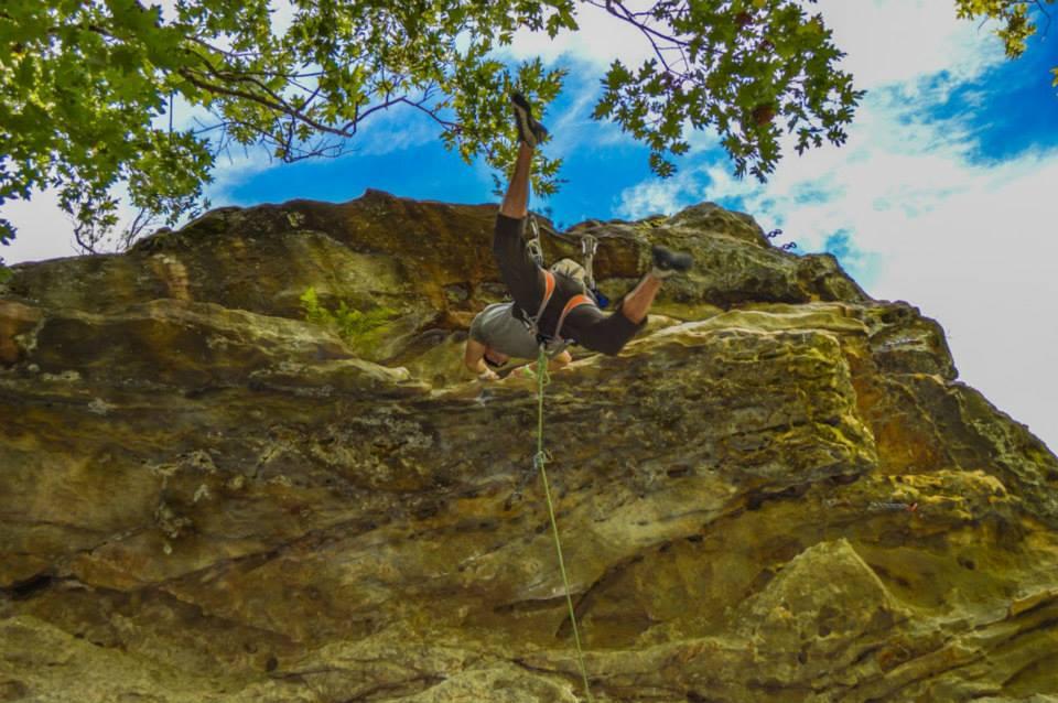 Epic climbing shot