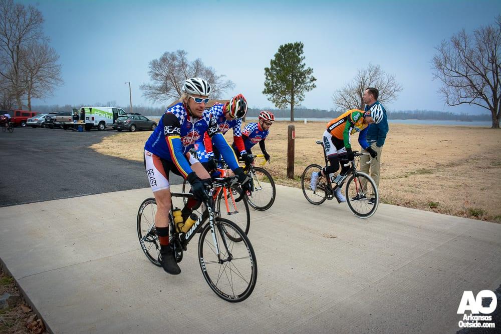 As part of a team at the Scott-Tucker-Scott Race.